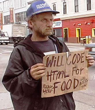 20 funny things the homeless will do for food and cash