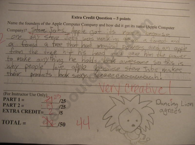 funny test answers  19