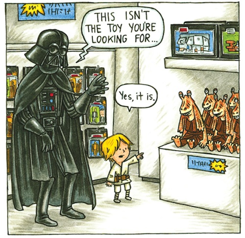 Darth Vader and Son by Jeffrey Brown (7)