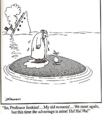 Far Side Duck on head space