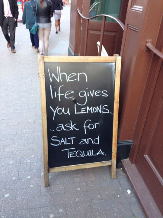21 Funny Chalkboard Signs