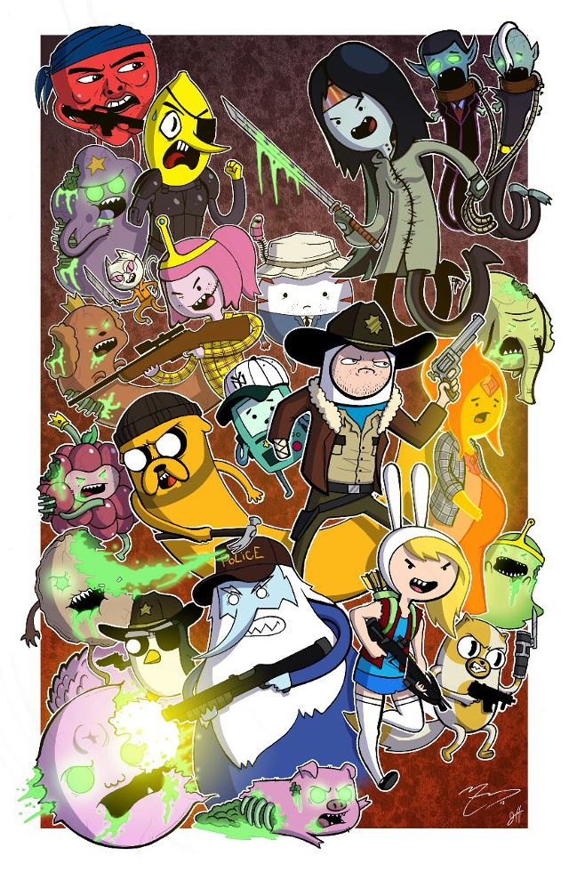 'Adventure Time' Characters Illustrated as Other Pop Culture Characters (6 Pics)