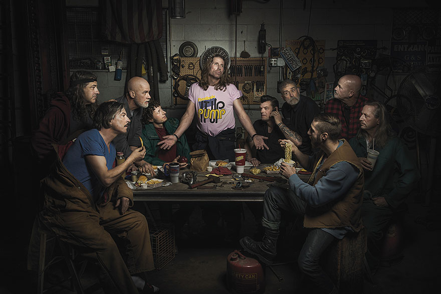 By Here Pay Here >> Car Mechanics Recreate Famous Renaissance Paintings