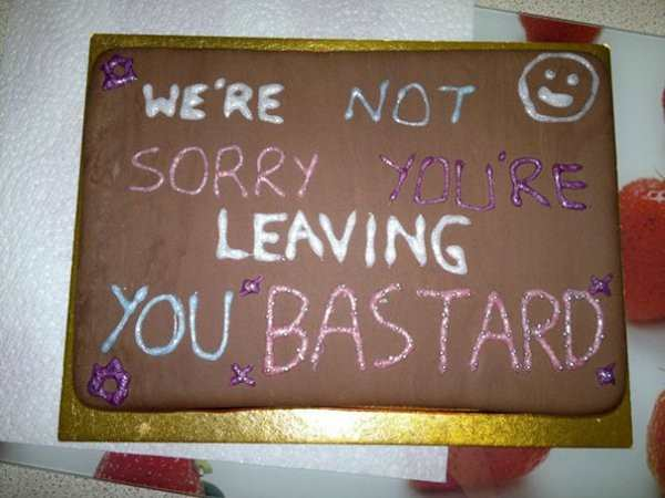 30 Funny Farewell Cakes   Pleated Jeans