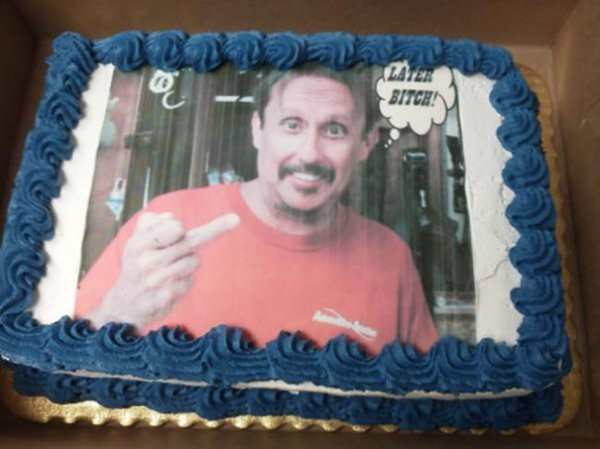 Funny Quit Job Meme : Funny farewell cakes pleated jeans