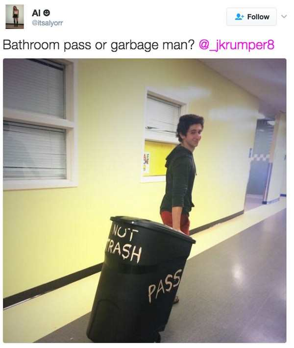 26 Incredibly Funny Hall Passes Pleated Jeans