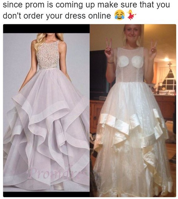 19 Bad Prom Dresses Ordered Online Pleated Jeans