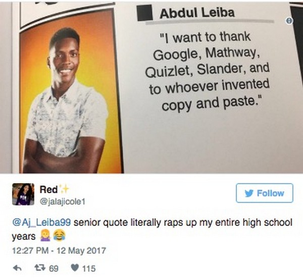 Senior Jokes Quote: 18 Best Senior Quotes Of 2017