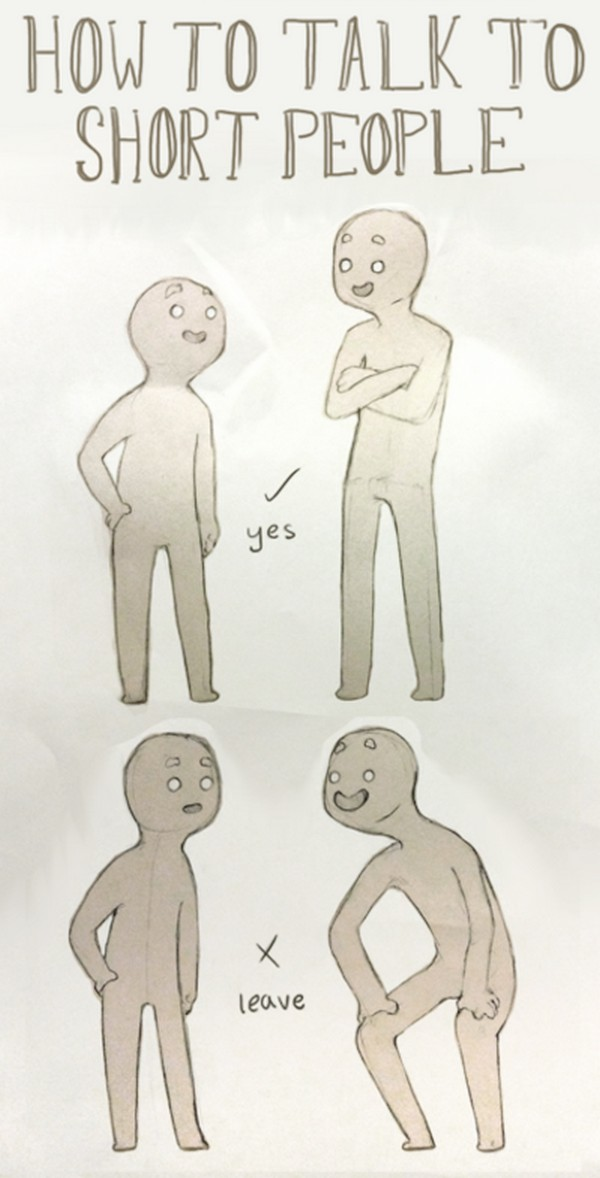 how to talk to short people imgur