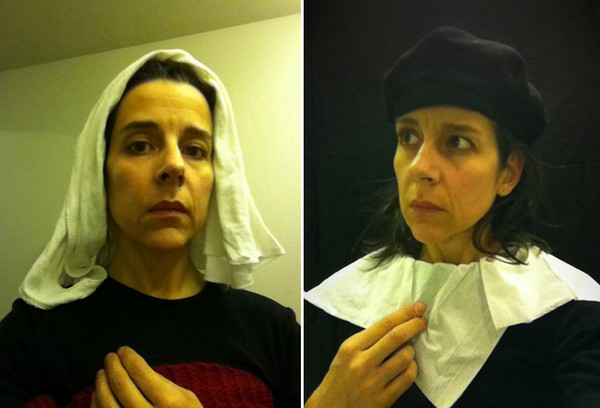 Woman Recreates Old-Timey Portraits Entirely In An ...
