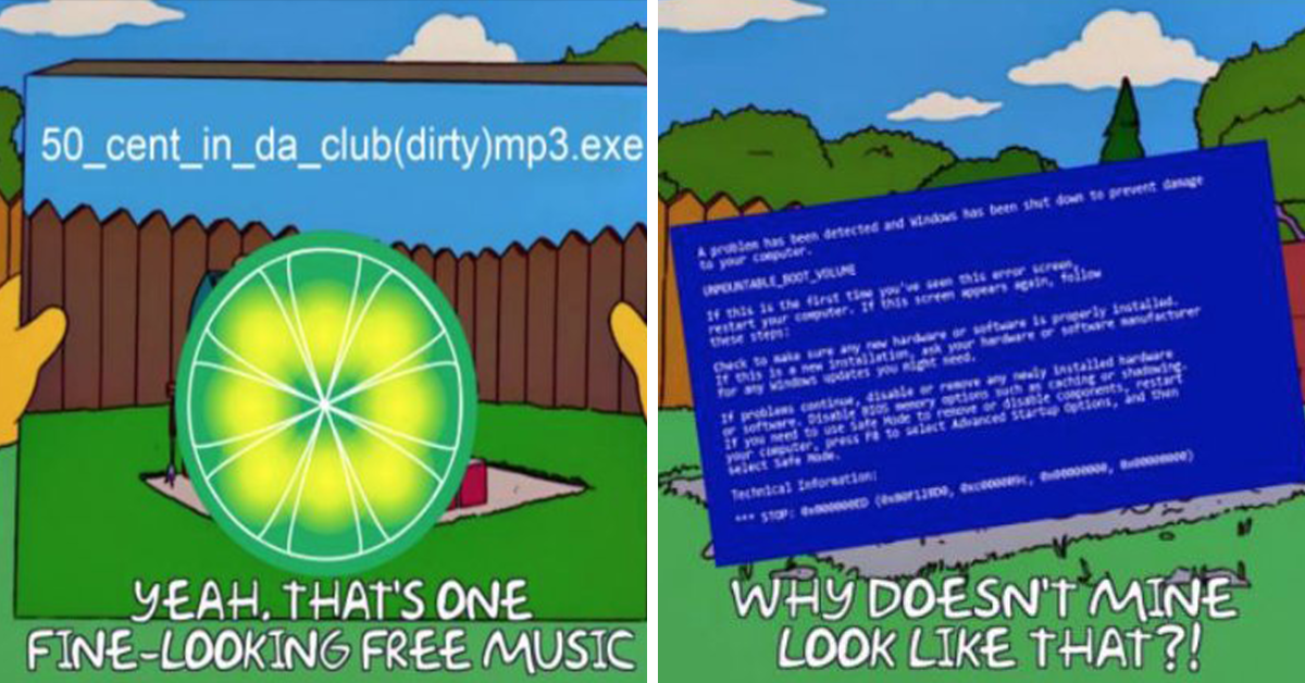1f4f2ff1b Limewire-Simpsons Memes Are The Nostalgic Cocktail You Didn't Know You  Needed