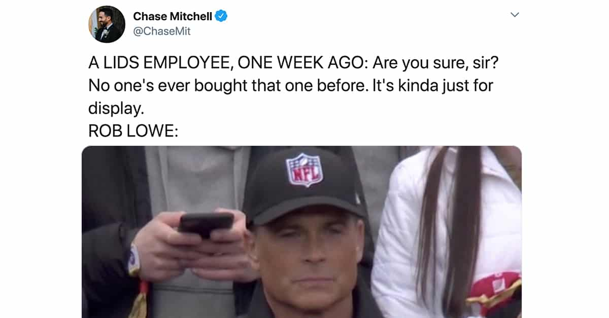Rob Lowe Got Roasted On Twitter For Wearing An NFL Logo Hat