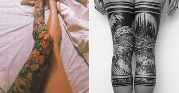 leg tattoos, leg tattoo ideas, hot leg tattoos, leg tatoos women, sexy leg tattoos