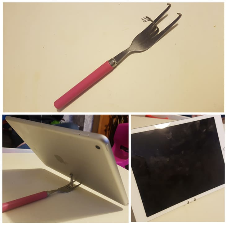 practical ways to fix things, practical fixes, funny fix it yourself, practical fix, funny do it yourself, funny diy, funny practical fixes, ipad fork stand