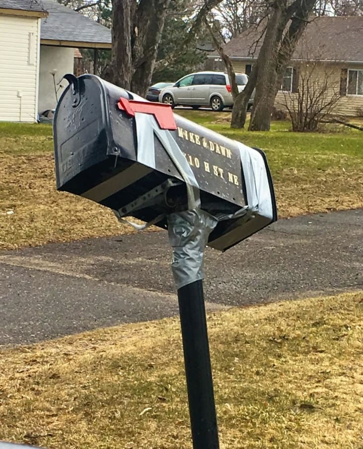 practical ways to fix things, practical fixes, funny fix it yourself, practical fix, funny do it yourself, funny diy, funny practical fixes, duct taped mailbox