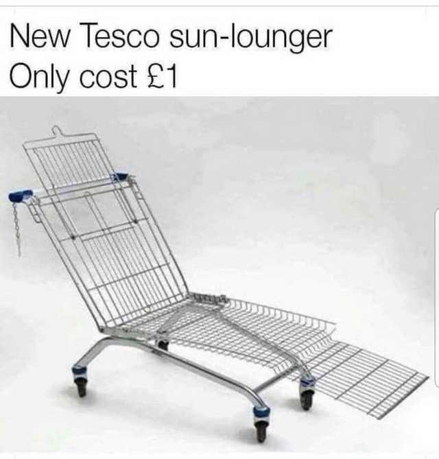shopping cart lounge chair, shopping cart lounger, shopping cart lounger meme, shopping cart lounge chair meme