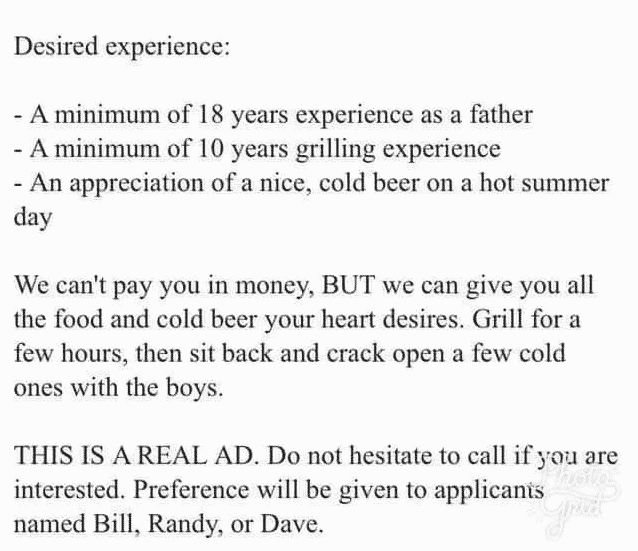 """This Classic """"In Need Of Dad"""" Craigslist Post May Be A Few ..."""