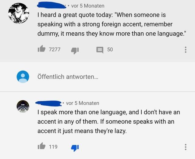 i don't have an accent brag post, i speak more