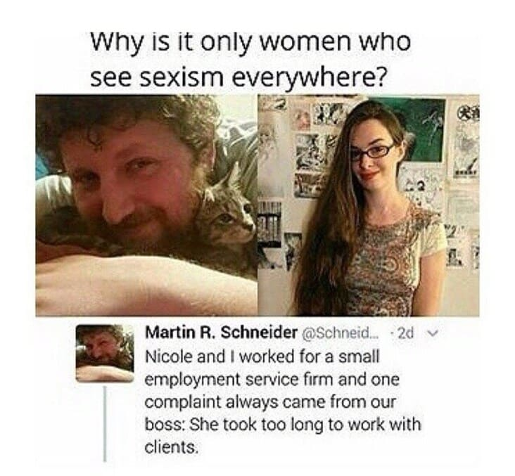 boss learns lesson about workplace sexism, boss learns lesson about sexism, boss uses female name to show sexism, boss shows sexism by using female name, man learns lesson about workplace sexism, man learns lesson about sexism, example of workplace sexism, supervisor learns lesson about sexism, supervisor learns lesson about workplace sexism