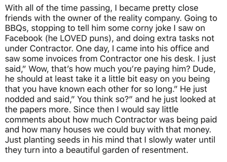 wholesome revenge, wholesome revenge story, man becomes contractor and takes over jerks business, man takes business from jerk, reddit contractor revenge story, contractor revenge story, revenge on contractor boss