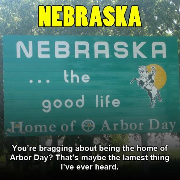 embarrassing fact about nebraska, nebraska embarrassing fact