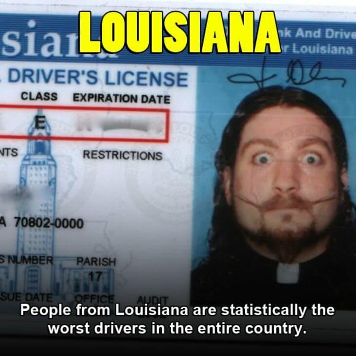 embarrassing fact about louisiana, louisiana embarrassing fact