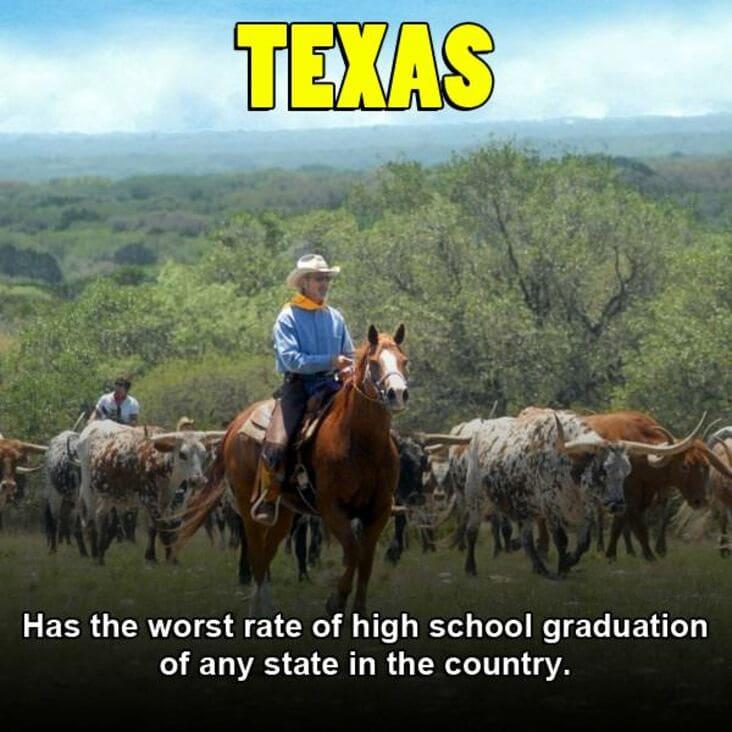 embarrassing fact about texas, texas embarrassing fact