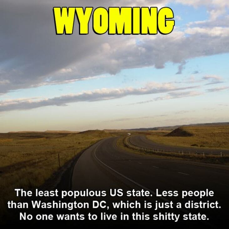 embarrassing fact about wyoming, wyoming embarrassing fact