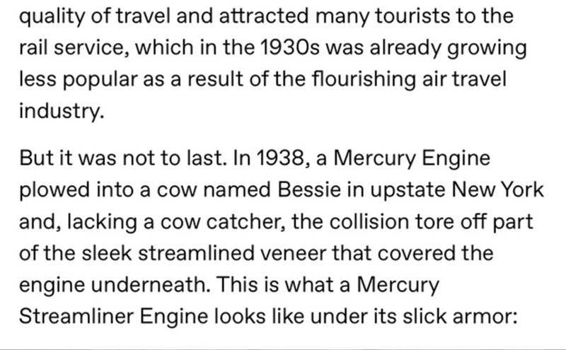 Tumblr Thread Reminds Us Why We Do Not Want Mercury Streamliners Back