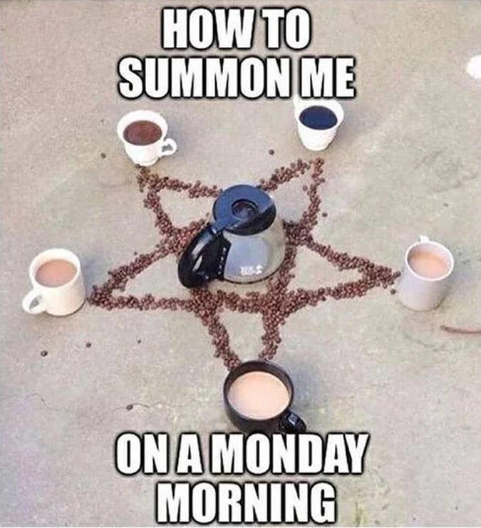 how to summon me coffee meme, coffee occult meme, coffee magic meme