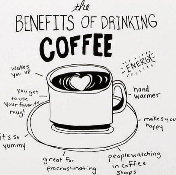benefits of drinking coffee meme, funny coffee benefits meme
