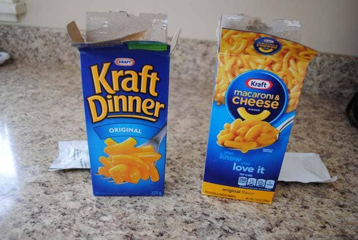 kraft macaroni has fork on box in canada