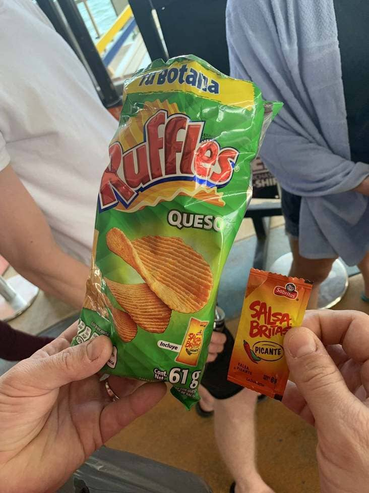 ruffles that came with hot sauce