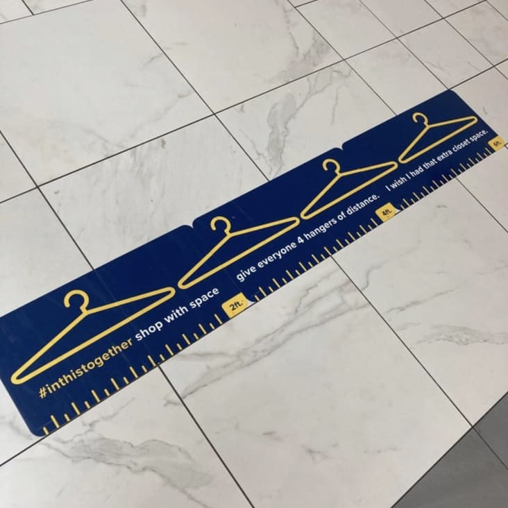measuring with coat hangers