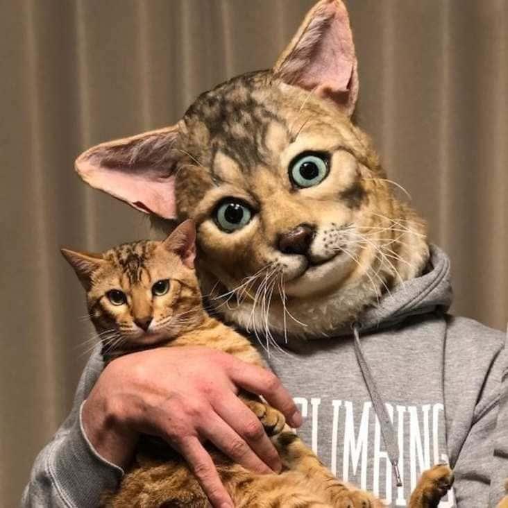 realistic cat mask, Shindo Rinka cat mask, cat mask that looks like your cat