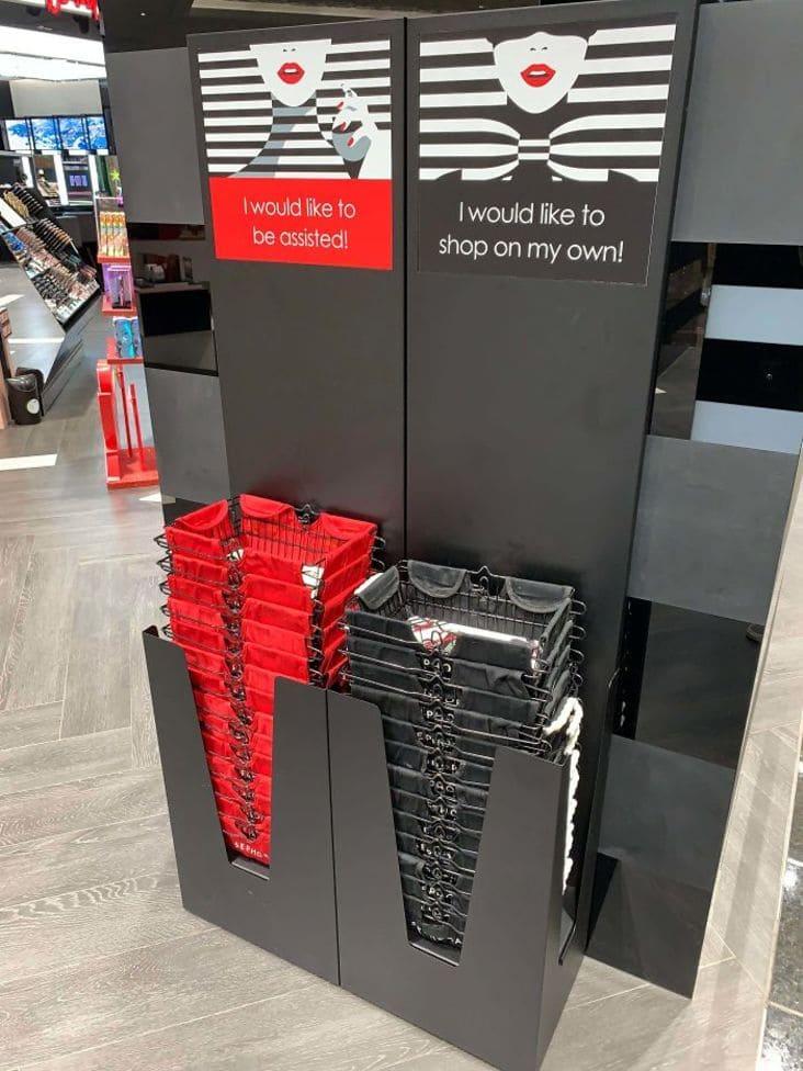 creative shopping basket design