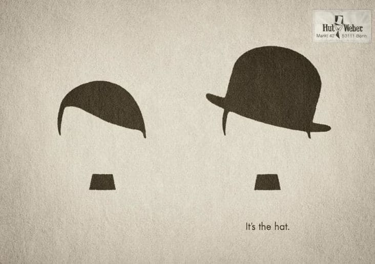 creative hat advertisement, creative hat ad, creative hat ad design