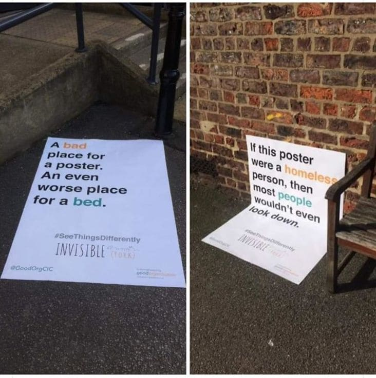 creative homelessness campaign ad design