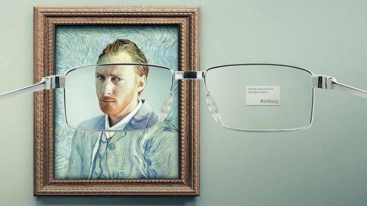 creative van gogh eyeglasses ad