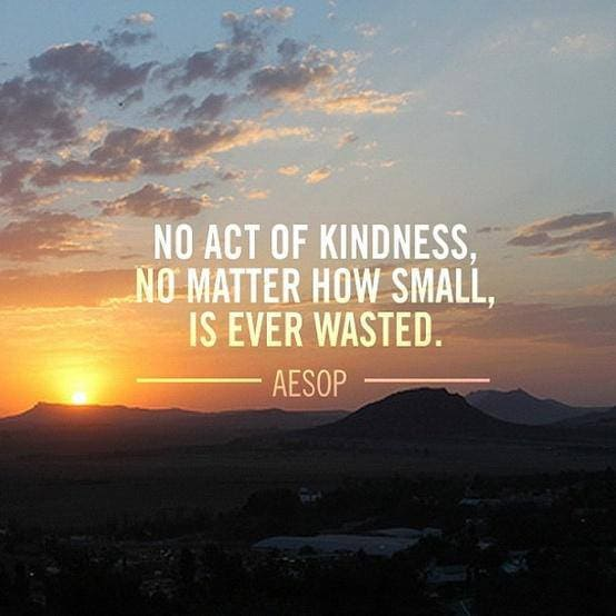 no act of kindness is ever wasted inspirational meme, no act of kindness is ever wasted aesop inspirational meme, no act of kindness is ever wasted encouraging meme, aesop inspirational meme