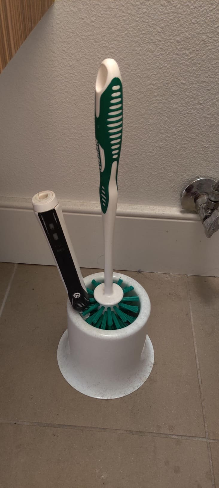 tooth brush with toilet brush frustrating picture