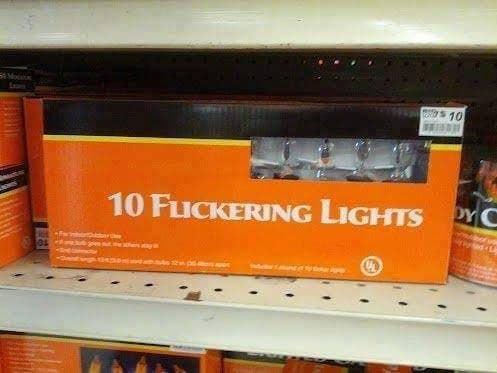 flickering lights you had one job fail