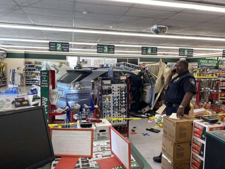 lexus drove into store had been coming for brake pads just rolled into the shop