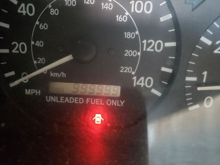 999999 odometer reading just rolled into the shop