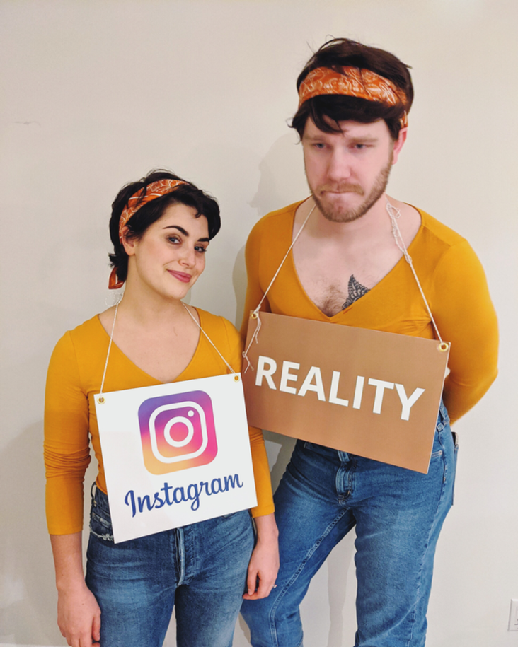 Couples costume about instagram