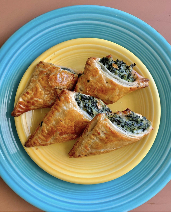 Spinach puffs real meal, Movie food recreations, food on screen, instagram meals from film and TV, curmudgeonclay