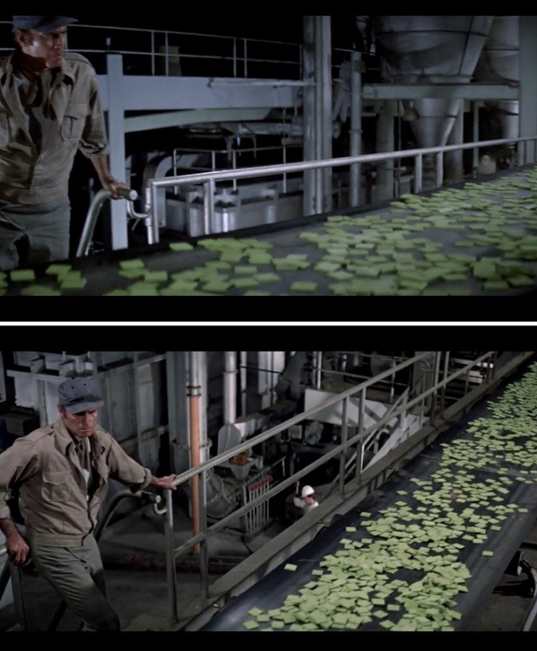 Soylent green movie still, food, Movie food recreations, food on screen, instagram meals from film and TV, curmudgeonclay