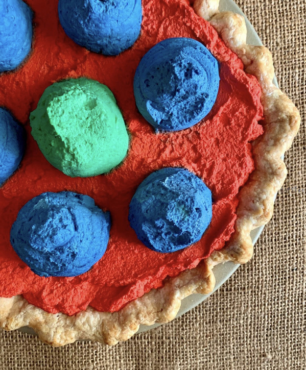 colorful cream pie from Hook, Movie food recreations, food on screen, instagram meals from film and TV, curmudgeonclay