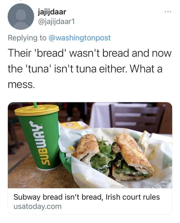 subway tuna lawsuit