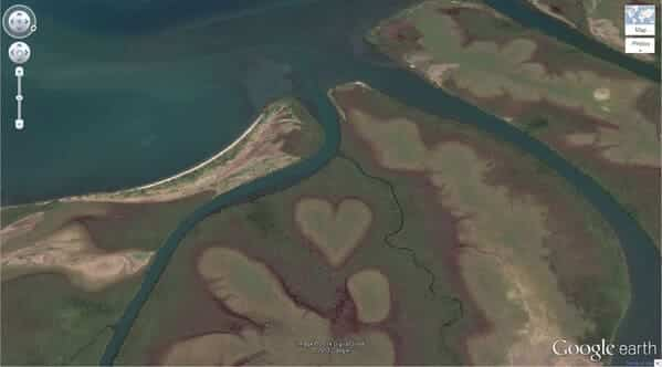 Heart-Shaped Land Formation, New Caledonia